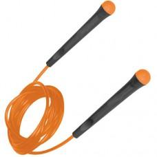 Скакалка TORRES трос из ПВХ эргономичные ручки оранжевый