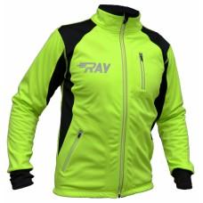 Куртка разминочная RAY салатово-черная