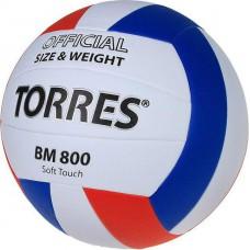 Мяч волейбольный TORRES BM800 бело-синий