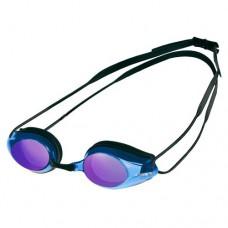 Очки для плавания ARENA Tracks Mirror зеркально-фиолетовые линзы сменная переносица черная оправа