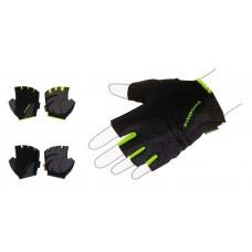 Перчатки для фитнеса мужские MADWAVE черный/зеленый