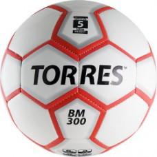 Мяч футбольный TORRES BM 300 бело-серебристо-красный