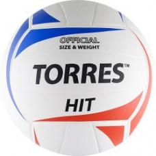 Мяч волейбольный TORRES Hit бело-красно-синий