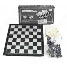 Игра 3 в 1 шахматы+шашки+нарды магнитные