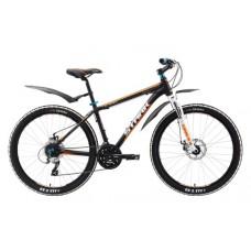 Велосипед STARK Router Disc 2016 черный/оранжевый