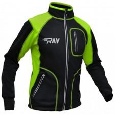 Куртка разминочная RAY черно-салатовая