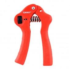 Эспандер кистевой TORRES регулируемый метал. пружина эргономичные ручки красный