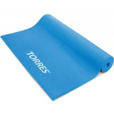 Коврик для йоги TORRES 3мм нескользящее покрытие голубой
