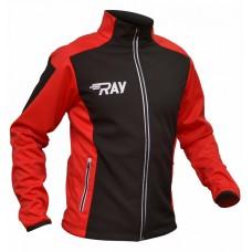 Куртка разминочная RAY черно-красная