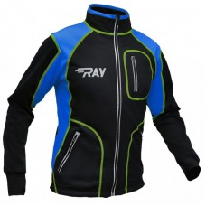 Куртка разминочная RAY черно-синяя