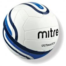 Мяч футбольный MITRE Ultimatch бело-сине-голубо-черный