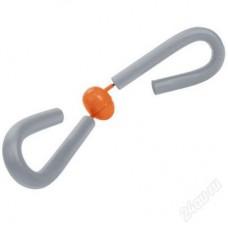 Эспандер TORRES Thigh master мягкие ручки серо-оранжевый