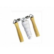 Скакалка веревочная 18011 с деревянными ручками 2,5м