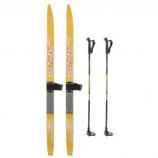 Лыжи деревянные TREK комплект (лыжи+палки+крепления)