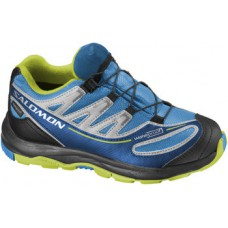 Кроссовки SALOMON Xa Pro 2 Wp K Bright Blue/Aluminium/Pop Green