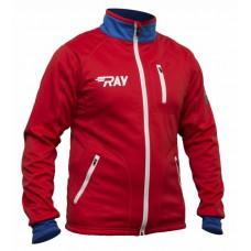 Куртка разминочная RAY триколор красный