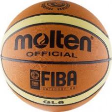 Мяч баскетбольный MOLTEN BGL6 натуральная кожа