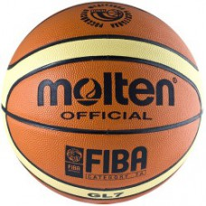 Мяч баскетбольный MOLTEN BGL7-RFB натуральная кожа лого РФБ