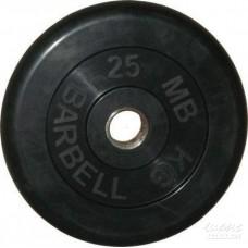 Диск BARBEL 25мм обрезиненный черный