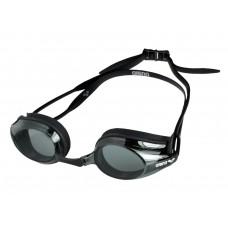 Очки для плавания ARENA Tracks дымчатые линзы сменная переносица черная оправа