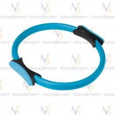 Кольцо для пилатеса TORRES диаметр 38см эргономичные захваты из ЭВА голубо-черное