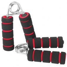 Эспандер кистевой TORRES металическая пружина, мягкие ручки черно-красный