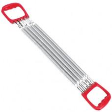 Эспандер грудной TORRES 5 металических пружин эргономичные ручки красно-серебр