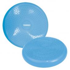 Платформа балансировочная массажная TORRES PVC двухсторонняя массажная поверхность голубой
